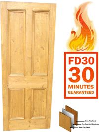 Made to Measure - Fire Doors - FD30  sc 1 st  Pinterest & Reclaimed pine fire door - made to measure fd30 | Fire doors Pine ...