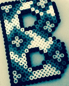 Easy pearler bead letter the design is a Jennasea original!