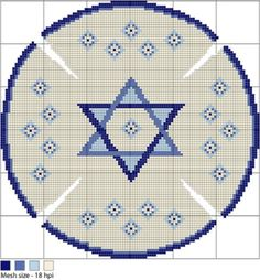 Needlepoint a Star of David Kippah with Free Pattern & Instructions: Working…
