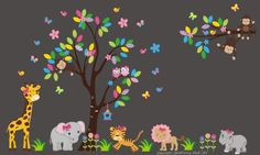 "Baby Nursery Wall Decals Safari Jungle Children's Themed 87"" X 142"" (Inches) Animals Wildlife: Repositionable Removable Reusable Wall Art: Better than vinyl wall decals: Superior Material Nursery Wall Decals http://www.amazon.com/dp/B00K7NCJX6/ref=cm_sw_r_pi_dp_Arysvb03FPT9S"