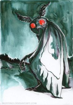 The Mothman Character Concept, Concept Art, Character Design, Fantasy Creatures, Mythical Creatures, Flatwoods Monster, Graffiti, Myths & Monsters, Legends And Myths