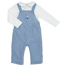Buy John Lewis Baby Dungaree And Top Set, Blue Online at johnlewis.com