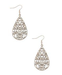 filgree teardrop earrings