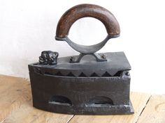 Antique Iron//coal Iron//Charcoal by VintageRetroOddities on Etsy