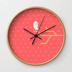 Buy #016 OWLY dots Wall Clock by owlychic. Worldwide shipping available at Society6.com. Just one of millions of high quality products available. #livingrooms #products #today #owlychic  #livingrooms #decors #building #product #clock #wall #wallclocks