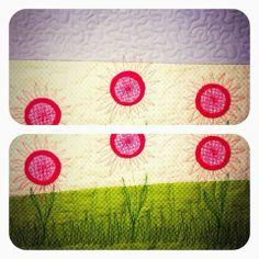 Free motion flowers - Anita quilt