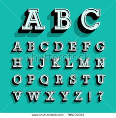 Find Retro Vector Latin Type Font Alphabet stock images in HD and millions of other royalty-free stock photos, illustrations and vectors in the Shutterstock collection. Hand Lettering Alphabet, Alphabet Design, Alphabet Art, Cool Lettering, Lettering Styles, Block Lettering, Typography Letters, Typography Poster, Lettering Design