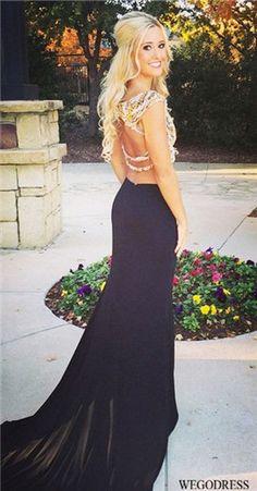 Black Hollow-out Flow V-neck Long Sleeve Mini Dress