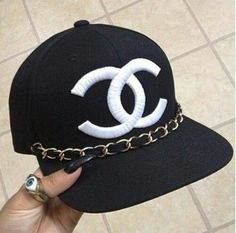 Chanel Chain Baseball Cap by MilansCloset on Etsy I so need this! Coco Chanel, Chanel Hat, Chanel Room, Chanel Outfit, Chanel Fashion, Chanel Black, Snapback Hats, Beanie Hats, Dope Hats