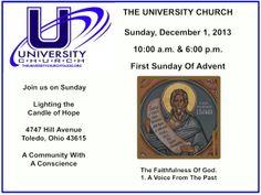 Sunday, December 1, 2013 at The University Church.