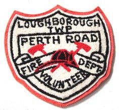 Vintage 1970s Patch // Large 70s Fire Department Patch // Retro Jacket Patch