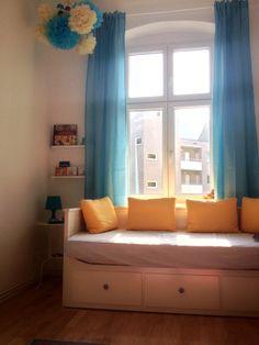 Nursery Reading Nook / Guest Bed! Ikea Hemnes Day Bed. Teal Nursery.