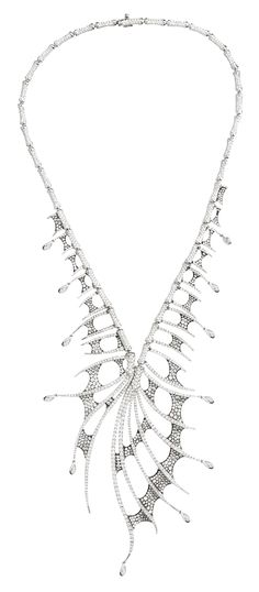 Stephen Webster 18-carat White Gold Jewels Verne Couture Collar with White Diamonds.