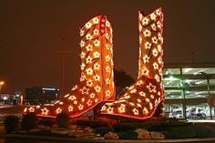 Christmas Boots at North Star Mall in San Antonio