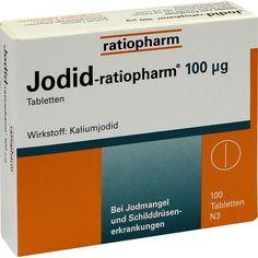 JODID ratiopharm 100 -m63g Tabletten:   Packungsinhalt: 100 St Tabletten PZN: 04619156 Hersteller: ratiopharm GmbH Preis: 1,87 EUR inkl.…