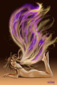 SciFi and Fantasy Art Fairy Fire Wings by Riaan MAN Marais