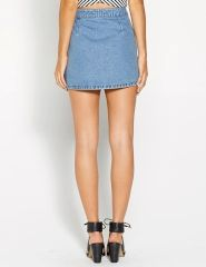 Button Through Denim Skirt