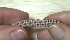 Tubular beadwork tutorial (Chenille Stitch): a simple idea for a tubular beadwork | Beading Tutorial