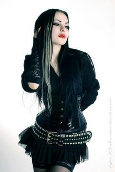 Cute outfit I do have my goth side >.