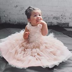 Sparkly Blush Pink Tulle Lace Flower Girls Dresses Cute Pageant Gowns Hand Made Flowers Appliques Layered Tulle Princess Kids Formal Wear Sears Flower Girl Dresses Spring Dresses For Girls From Yaostore, $71.46| Dhgate.Com