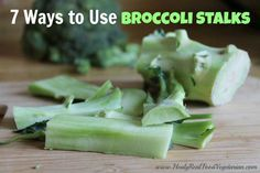 Apparently many people just throw away the broccoli stalks, but there are so many good uses for them! Ive come up with at least 7 ways to use broccoli stalks and there Veggie Dishes, Vegetable Recipes, Vegetarian Recipes, Healthy Recipes, Side Dishes, Broccoli Dishes, Broccoli Soup, Broccoli Recipes, Delicious Recipes