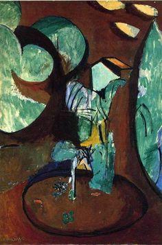 Garden at Issy - Henri Matisse - 1917 - Cubism Henri Matisse, Matisse Kunst, Matisse Art, Matisse Paintings, Picasso Paintings, Matisse Pinturas, Georges Braque, Inspiration Art, Oeuvre D'art