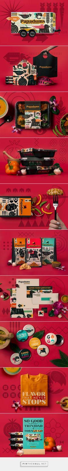 Papadums Go-Go Gourmet packaging design by Whiskey Design - https://www.packagingoftheworld.com/2018/03/papadums-go-go-gourmet.html