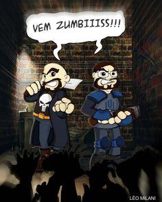 Jovem nerd e Azaghal contra Zumbis