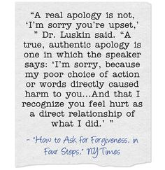 Quote Of The Day: Apologies Are Important, Especially From Teachers To Students