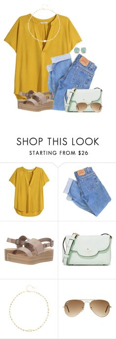 """""""~ guide your own ship ~"""" by victoriaann34 on Polyvore featuring H&M, Levi's, Blowfish, Kate Spade, Ela Rae, Ray-Ban and Melissa Joy Manning"""