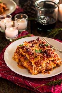 Italian Holiday Table: Lasagna Bolognese and Chocolate Tart with a Hazelnut Crust