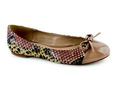 Snake Print Shoes, nude