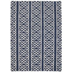 DL Rhein Nautical Navy Hook Rug