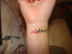Love it. I will be getting my believe tattoo in spring. My heart will be purple my L will be a suicide awareness ribbon and at the end will be a music note all for the people who I have lost in the past 5 years. You must believe that everything happens for a reason...