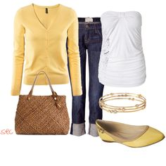 Yellow, created by coombsie24 on Polyvore