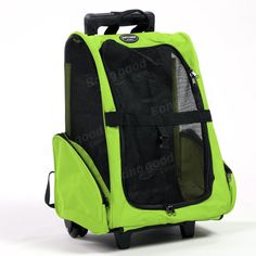 Pet Carrier Dog Cat Rolling Backpack Travel Backpack Trolley For Dogs And Cats…