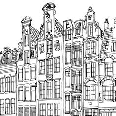 Fantastic Cities: 20 Postcards to Color (Adult Coloring Postcards, Stationery to Color or Paint) Printable Adult Coloring Pages, Cute Coloring Pages, Coloring Books, To Color, Steve Mcdonald, Architecture Drawing Sketchbooks, City Sketch, Travel Sketchbook, Colour Architecture