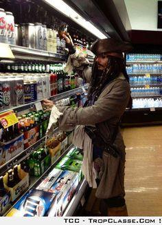 Quand Jack Sparrow fais ses courses