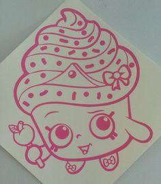 Shopkins inspired CupCake Queen vinyl sticker decal by TOSHWERKS