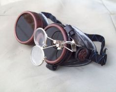Steampunk Goggles Airship Captain Apocalyptic Mad Scientist Special