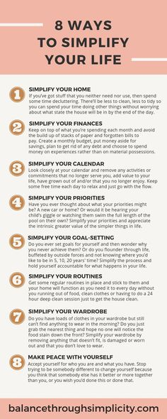 8 ways to simplify your life A simple life isn't always easy but it's definitely easIER! Declutter your home, life, Nota Personal, Mindful Living, Slow Living, Self Care Activities, Self Improvement Tips, Self Care Routine, Simple Living, Self Development, Better Life