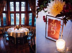 Sarah and Heaths intimate late fall wedding at Thornewood Castle in Tacoma Washington photographed by local Seattle wedding photographer, Rebecca Anne Photography.