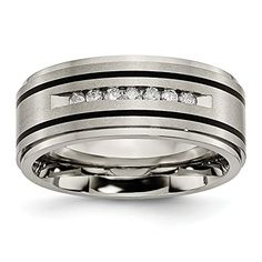 Bridal & Wedding Party Jewelry Titanium Grooved Beaded 6mm Wedding Ring Band Size 12.00 Fashion Jewelry Gifts With A Long Standing Reputation