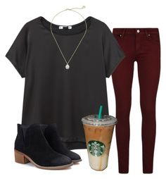 """""""went shopping today"""" by shenry2016 ❤ liked on Polyvore featuring Paige Denim, MANGO and Kendra Scott"""