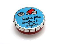 """Mini boîte Je pratique la bio logique """"petites piles usagées à recycler"""" - DLP - Valérie Nylin"""