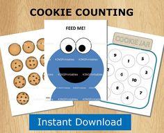 Cookie Counting Printable Worksheets #printable #worksheets #number #preschool #preschoolers #prek #homeschool #homeschooling #affiliate