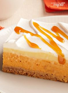 Try a pumpkin spice layered dessert for your Thanksgiving table! This No-Bake Pumpkin Spice Layered Dessert looks impressive but couldn't be easier to make! Fall Dessert Recipes, Köstliche Desserts, Thanksgiving Desserts, Holiday Desserts, Snack Recipes, Healthy Desserts, Snacks, Baked Pumpkin, Pumpkin Recipes