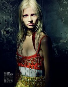 "with Maja Salamon in ""A Mystical Season"" by Paolo Roversi for Vogue Nippon, March 2014"