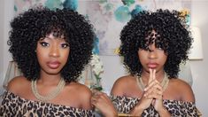 360 Frontal Wig, Curly Hair Styles, Natural Hair Styles, Black Wig, Clip In Extensions, Goddess Braids, Curly Wigs, Synthetic Wigs, Protective Styles