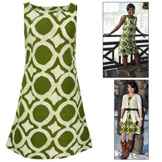 Feel good about looking great in our handmade A-line dress. Sleevelessly casual, with a darling boat neck and comfortable cotton fabric. All the better, your purchase supports women entrepreneurs in Ghana, West Africa.